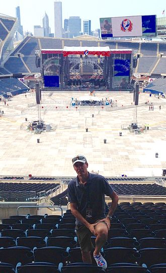 David Lemieux (archivist) - David Lemieux at Soldier Field in Chicago prior to the final Fare Thee Well concert in 2015