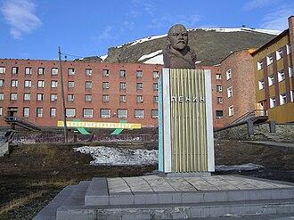 Svalbard - Lenin statue in Barentsburg
