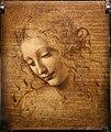 Leonardo da vinci, testa di fanciulla detta la scapigliata, 1500-10 ca., disegno su tavola, 01.jpg