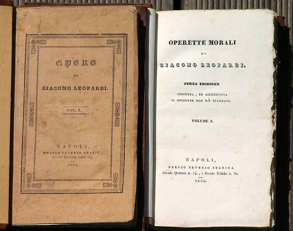 Leopardi Opere Napoli 1835