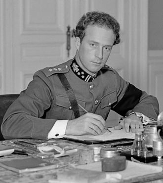 Hubert Pierlot - The break between Pierlot and King Leopold III (pictured) during the fighting in Belgium created a political crisis and lasting personal animosity