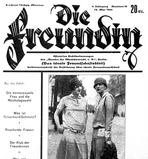 14 May 1928 issue of Die Freundin
