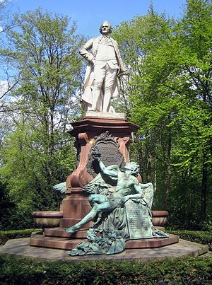 Otto Lessing (sculptor) - Lessing Monument in the Großer Tiergarten, Berlin
