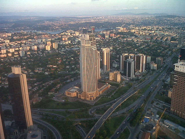Turkiye Is Bankasi headquarters in Levent, Istanbul. Levent 2011 Aug.jpg