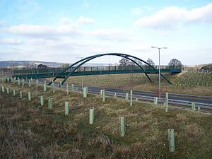 A228 road - Bridleway bridge over the new Leybourne Bypass.