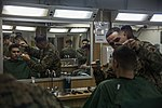 Life on the ship, Barber Shop 160308-M-CX588-011.jpg