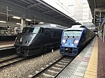 "Limited Expresses ""Kamome"" and ""Sonic"" at Hakata Station.jpg"
