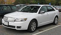 2007-2008 Lincoln MKZ photographed in USA.