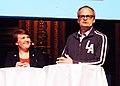 Linda Wijkström och Johan Rheborg 2013.jpg