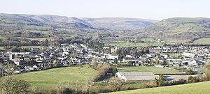 Llandovery - Llandovery from hill to south