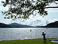 Llyn Tegid (Lake Bala), fun in and out of the water - panoramio.jpg