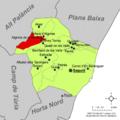 Localització d'Algimia de la Baronia respecte del Camp de Morvedre.png