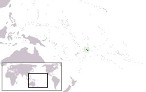 Western Samoa Trust Territory - Location of Western Samoa in Oceania.
