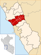 Location of the province Huaral in Lima.svg