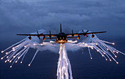 Lockheed MC-130 USAF flares