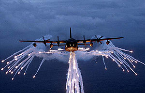 Lockheed MC-130 - MC-130E Combat Talon dispensing flares