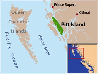 Pitt Island (Canada) - Image: Locmap Pitt Island