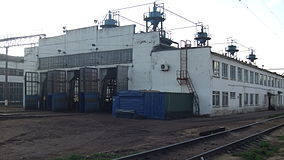 Locomotive depot Bekasovo (PTO, view from east).JPG