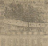 John Norden's map of London published in 1593