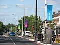 London 2012 Olympics banners at Stonecot Hill, Sutton.jpg