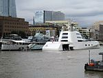 London September 6 2016 (3) Mega Yacht A Hamilton. Design by Philippe Starck. Owned by Andrei Melnichenko (29422035671).jpg