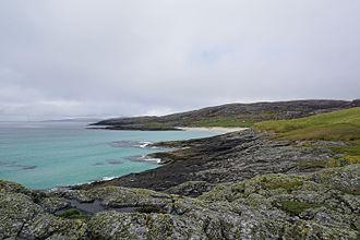 Pabbay, Barra Isles - Image: Looking towards Bàgh Ban from Rosinish (27322927655)