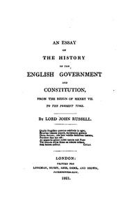file lord john russell an essay on the history of the english  start this book