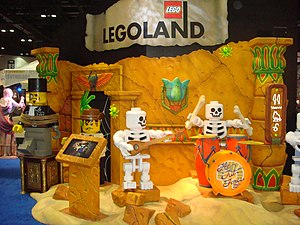 Lost Kingdom Adventure - One of the ride's sets on display at IAAPA's trade show in 2011