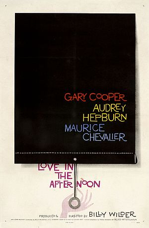 Love in the Afternoon (1957 film) - American release poster by Saul Bass