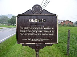 Lower Shawneetown Shannoah historical marker HRoe.jpg