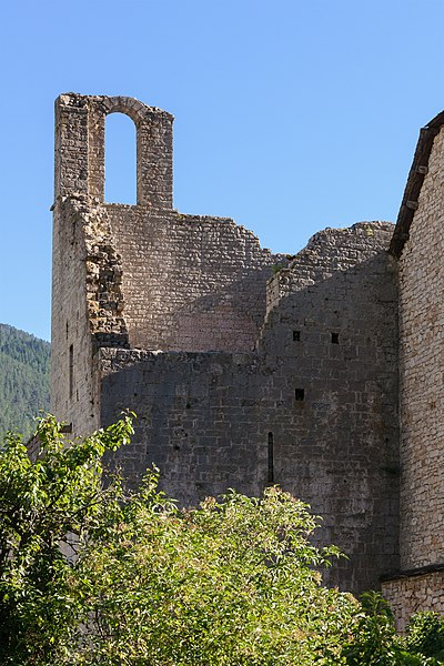 Ruins of the monastery of Sainte-Enimie, Lozère, France