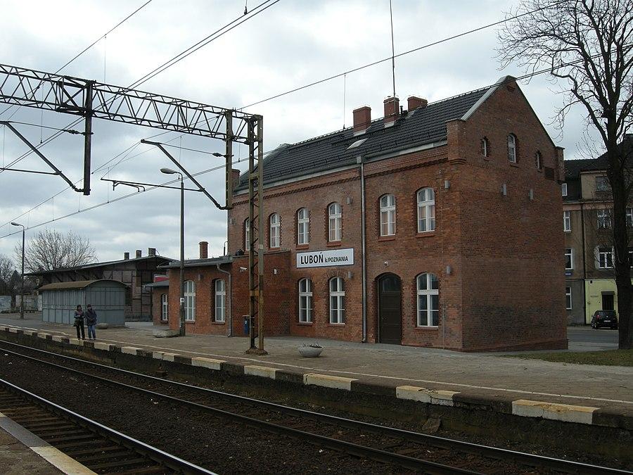 Luboń koło Poznania railway station