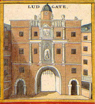 Ludgate - An old illustration of the gate circa 1650