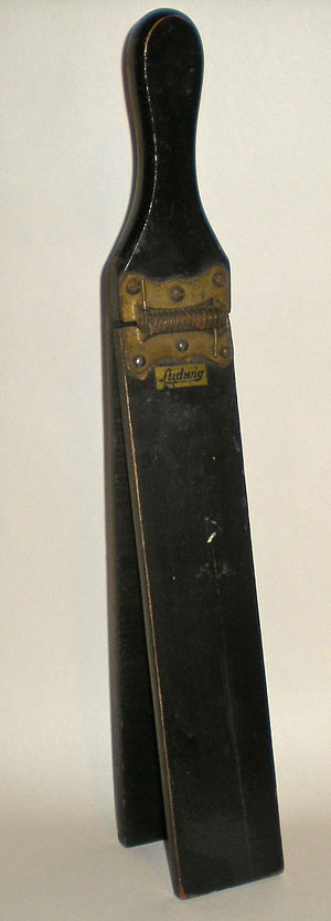 Clapper (musical instrument) - A slap stick made by Ludwig.