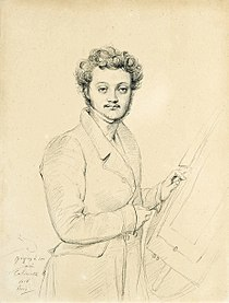 Luigi Calamatta (attributed) - Portrait of Luigi Calamatta after Jean-Auguste-Dominique Ingres.jpg