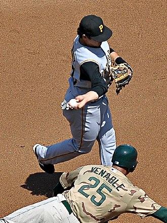 Luis Cruz - Cruz playing for the Pittsburgh Pirates in 2008