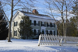 Boston Heights, Ohio - The Luther B. Ranney Farmhouse, a historic site in the village