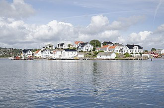 Tvedestrand - View of the village of Lyngør