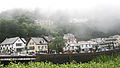 Lynmouth with the fog coming in, Exmoor, Devon (2545919498).jpg