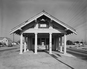 Lynwood, California - Lynwood Pacific Electric Railway Depot, designed by Bernard Maybeck in 1917.