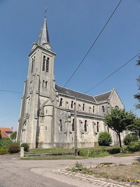 Mécrin (Meuse) église Saint-Evre extérieur