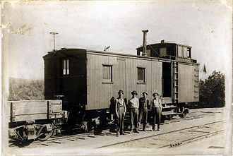 Mississippi River and Bonne Terre Railway - Image: M.R. and B.T. Caboose No 3