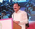 M. Venkaiah Naidu addressing at the closing ceremony of the 2nd Edition of 'Indywood Film Carnival', in Hyderabad.jpg