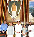 M. Venkaiah Naidu and dignitaries paid tributes at the portrait of Dr. Rammanohar Lohia on his birth anniversary, at Parliament House, in New Delhi.jpg