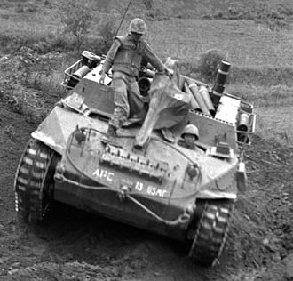 M39 Armored Utility Vehicle - An M-39 Armored Utility Vehicle in the Korean War