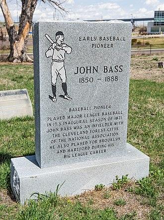 John Bass (baseball) - Grave stone in the Riverside cemetery in Denver Colorado.