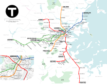 Plan du métro de Boston