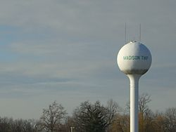 Madison Township water tower near U.S. Route 30