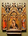 Madonna and Child with Christ, with St Peter and Gabriel, and St Paul and the Virgin, Simone dei Crocifissi, Bologna, c. 1330-1399, tempera on gold panel - Blanton Museum of Art - Austin, Texas - DSC07691.jpg