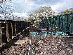 Maesglas Road bridge reconstruction(2) (geograph 5110266).jpg